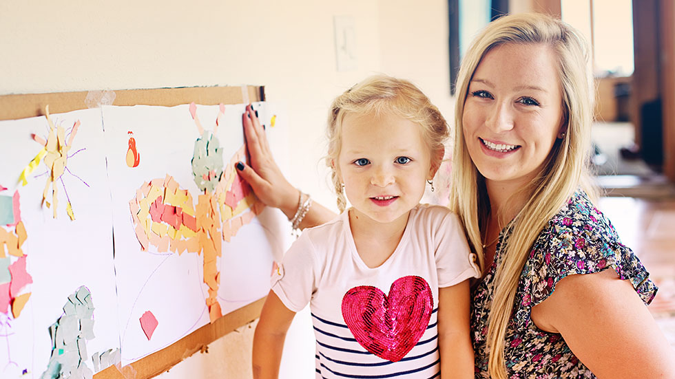 Professional au pair and little girl training PROaupair